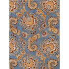 Sasha Agra Classical Traditional Oriental Hand-Tufted Wool Brown/Blue Area Rug