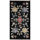 Christi Traditional Art Deco Vintage Chinese Classical Hand-Knotted Wool Red/Black/Blue Area Rug