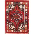 Ritvik Heriz Traditional Geometric Vintage Oriental Hand-Knotted Wool Red/Burgundy Area Rug