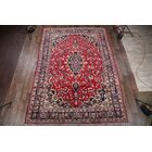 One-of-a-Kind Traditional Vintage Mashad Persian Hand-Knotted 9'2