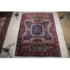 Horsholm Agra Oriental Hand-Knotted Wool Red/Black/Blue Area Rug