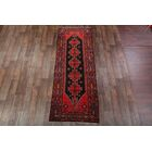 One-of-a-Kind Traditional Hamadan Persian Hand-Knotted 3'8