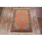 One-of-a-Kind Traditional Ardebil Geometric Persian Hand-Knotted 6'7