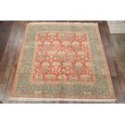 One-of-a-Kind Myrtlewood Peshawar Agra Pakistan Oriental Hand-Knotted Wool Red/Burgundy Area Rug