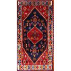 One-of-a-Kind Traditional Shiraz Persian Hand-Knotted 2'5