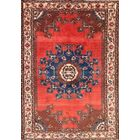 One-of-a-Kind Malayer Hamedan Persian Hand-Knotted 4'6