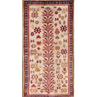 One-of-a-Kind Gabbeh Vintage Ghashghaei Persian Hand-Knotted 3'2