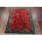 One-of-a-Kind Swilley Antique Art Deco Nichols Chinese Oriental Hand-Knotted Wool Red/Burgundy Area Rug