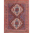 One-of-a-Kind Afshar Persian Traditional Hand-Knotted 4'9