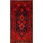 One-of-a-Kind Shiraz Classical Persian Hand-Knotted 4'7