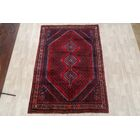 One-of-a-Kind Montiel Geometric Shiraz Abadeh Persian Hand-Knotted 6'7