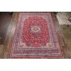 One-of-a-Kind Floral Medallion Genuine Kashmar Vintage Persian Hand-Knotted 9'9