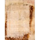 One-of-a-Kind modern Gabbeh Zolanvari Persian M Hand-Knotted 4'2'' x 5'8'' Wool Beige/Brown Area Rug