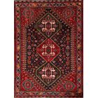 One-of-a-Kind Traditional Abadeh Shiraz Persian Hand-Knotted 3'8
