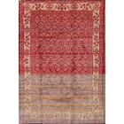 One-of-a-Kind Geometric Tribal Shiraz Genuine Persian Hand-Knotted 4'11