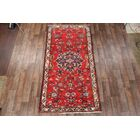 One-of-a-Kind Traditional Lilian Floral Hamedan Persian Hand-Knotted 5'2