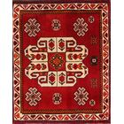 One-of-a-Kind Traditional Shiraz Persian Hand-Knotted 1'8'' x 2' Wool Black/Red/Ivory Area Rug
