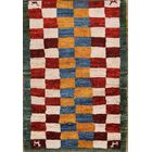 One-of-a-Kind Traditional Qashqai Gabbeh Shiraz Persian Hand-Knotted 2'10