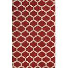 Melina Trellis Oriental Hand-Tufted Wool Red/Burgundy Area Rug