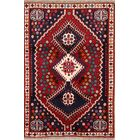 One-of-a-Kind Abadeh Genuine Shiraz Persian Traditional Hand-Knotted 3'4