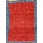 One-of-a-Kind Classical Shiraz Gabbeh Persian Hand-Knotted 3'7