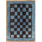 One-of-a-Kind Shiraz Gabbeh Persian Hand-Knotted 1'6