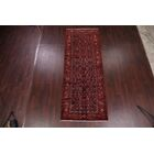 One-of-a-Kind Geometric Hamedan Persian Hand-Knotted 3'11