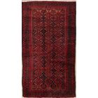 One-of-a-Kind Traditional Balouch Persian Hand-Knotted 3' x 5'6