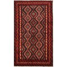 One-of-a-Kind Balouch Vintage Persian Traditional Hand-Knotted 3'7
