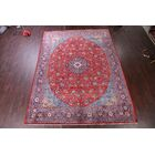 One-of-a-Kind Traditional Vintage Floral Sarouk Persian Hand-Knotted 9'9