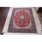 Traditional Floral Hamadan Persian Red/Ivory/Orange Area Rug