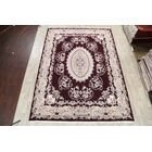 Geometric Traditional Floral Tabriz Persian Burgundy/Beige Area Rug
