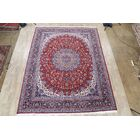 Soft Plush Floral Kashan Persian Red/Purple Area Rug