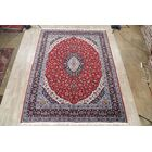 Soft Plush Traditional Kashan Persian Red/Blue Area Rug