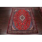 One-of-a-Kind Mentzer Geometric Floral Hamedan Persian Hand-Knotted 9'11