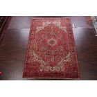 One-of-a-Kind Vintage Traditional Heriz Persian Classical Hand-Knotted 7'11