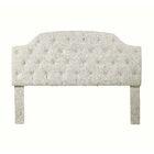 Mason Freda Upholstered Panel Headboard Upholstery: Beige, Size: King