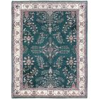One-of-a-Kind Aegean Indo Lilian Hand-Woven Wool Green Area Rug