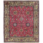 One-of-a-Kind Mellott Indo Sultan Hand-Woven Wool Burgundy/Gold Area Rug