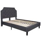 Porath Tufted Upholstered Platform Bed Color: Dark Gray, Size: King