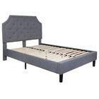 Porath Tufted Upholstered Platform Bed Size: Full, Color: Light Gray