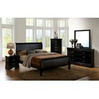 Poulos Sleigh Bed Size: King, Color: Black
