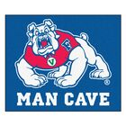 Fresno State Doormat Color: Blue, Mat Size: Rectangle 5' x 6'