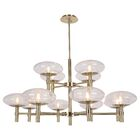 Forontenac 12-Light Shaded Chandelier Finish: Brushed Brass