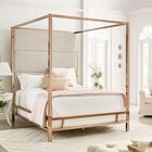 Weymouth Upholstered�Canopy Bed Size: Full, Color: White/Champagne Gold