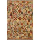 One-of-a-Kind Bakerstown Kilim Hand-Woven Wool Ivory/Rust Area Rug