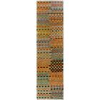 One-of-a-Kind Bakerstown Kilim Hand-Woven Wool Gray/Yellow Area Rug