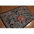 One-of-a-Kind Geremia Hand-Knotted Wool Blue Area Rug