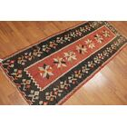 One-of-a-Kind Geoffroy Kilim Hand-Woven Black/Red Area Rug