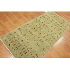 One-of-a-Kind Nordberg Hand-Knotted Wool Green Area Rug